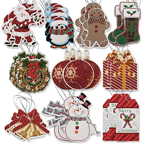 100 Large Gift Tags for Christmas with Ribbon Tie Strings 10