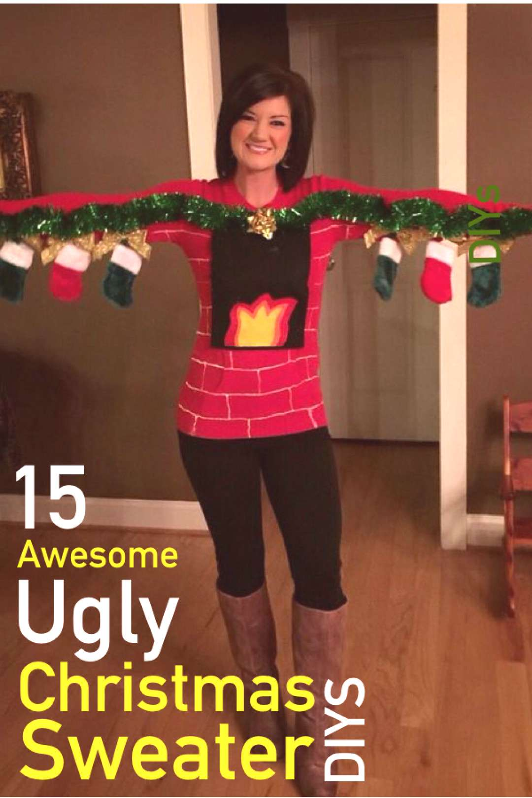 15 Hilarious Ugly Christmas Sweater DIYs | The Unlikely Hostess