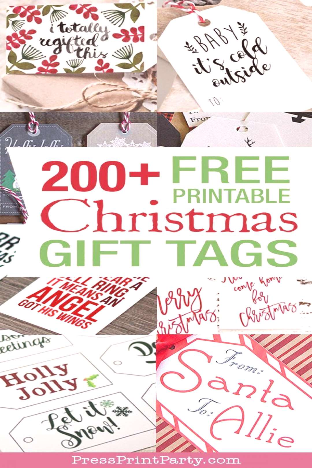 200+ FREE Christmas Gift Tags Printables. Lots of Rustic and vintage for that homemade look. Great
