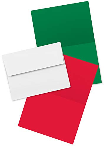 2022 Holiday Christmas Greeting Cards - 25 Red amp 25 Green