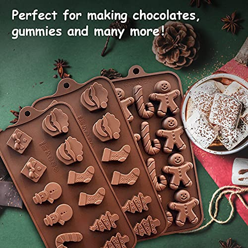 3 PACK Christmas Chocolate Molds, Xmas Candy Molds Cake Pop