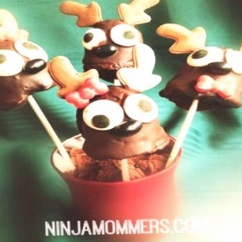 ✔ Christmas Cake Pops Chocolate
