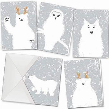 36 Christmas Holiday Greeting Cards Collection in 5 Unique