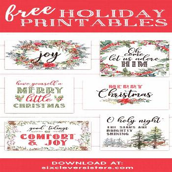 6 FREE Red Buffalo Plaid Check Christmas Printables - Six Clever Sisters