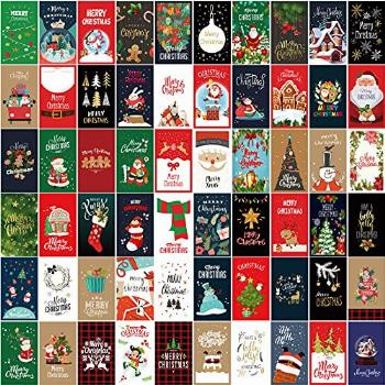 60 Pieces Holiday Christmas Greeting Cards Assorted