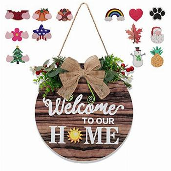 ALVBELLS Welcome Sign for Front Door Decor, Double-Sided