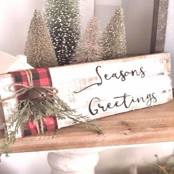 Buffalo Plaid Christmas Decor Ideas - May Arts Ribbon