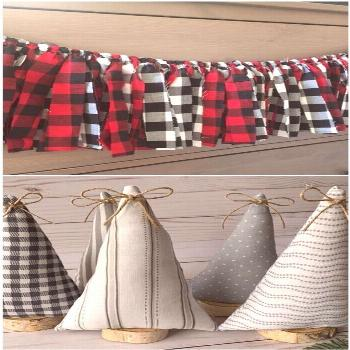 Buffalo Plaid Tree Skirt, Christmas Tree Skirt, Burlap Tree Skirt, Christmas Decor Buffalo Plaid Tr