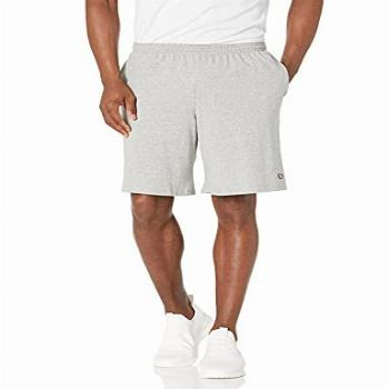 Champion Men's Jersey Short With Pockets, Oxford Grey,
