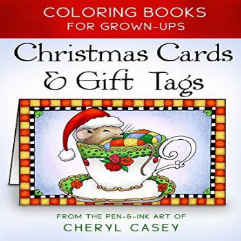 Christmas Cards & Gift Tags: Coloring Books for Grownups,