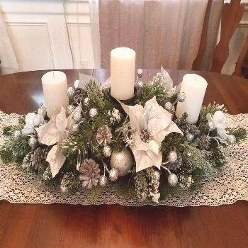 Christmas Centerpiece / XL Christmas Centerpiece/ Holiday Centerpiece / Mantle Decor / Table Decor