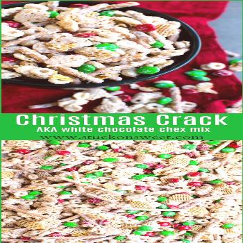 Christmas Crack - aka white chocolate chex mix. This is the perfet holiday treat and is also a grea