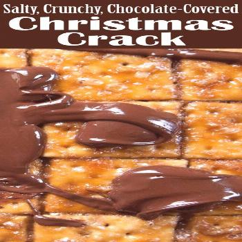 Christmas Crack! Saltine crackers coated with caramel and chocolate. A salty, crunchy holiday treat
