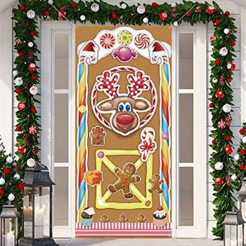 Christmas Decorations, Large Fabric Colorful Gingerbread