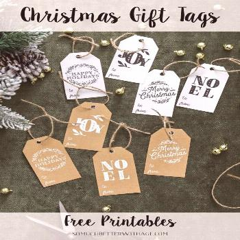 Christmas Gift Tag Printables | Holiday Gift Wrapping Ideas | Get these Christmas gift tags for fre