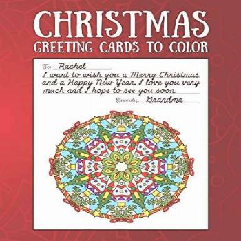 Christmas Greeting Cards to Color: Christmas Coloring Book