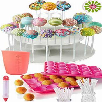 COMPLETE CAKE POP MAKER KIT - Jam packed with silicone