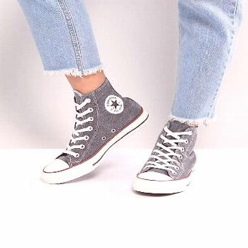 Converse Chuck Taylor All Star Hi Sneakers In Stonewashed Black