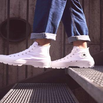 Converse Chuck Taylor All Star Lugged Converse haute blanches à plateforme, sneakers Converse Chuc