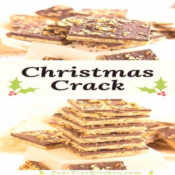 Cracker Candy Recipe for an addictive snack made with saltine crackers covered in a crispy toffee c
