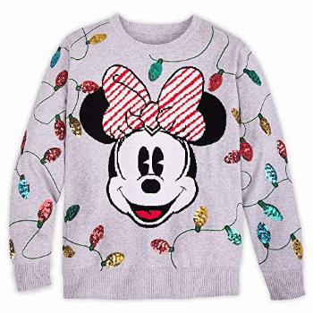 Disney Minnie Mouse Holiday Cheer Sweater for Women, Size S