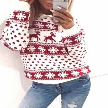 Fawn Print Christmas Sweater – sweatshirts outfit,hoodies womens outfit,sweatshirts fashion,pullo