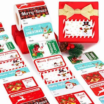 Gift Tag Stickers, Christmas Tags for Gifts 500+ Pcs,