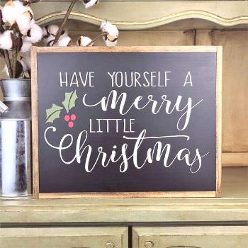 Have Yourself A Merry Little Christmas~Merry Christmas Sign~Christmas Sign~Christmas Wall Art~Chris