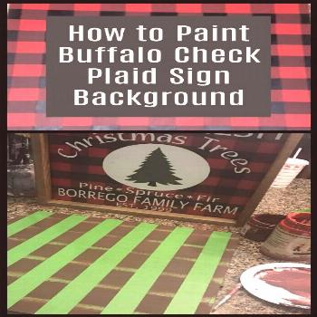 Learn to paint buffalo check plaid. This 3 color plaid makes such a great sign background! via @whi