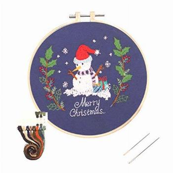 Louise Maelys Christmas Embroidery Kit for Beginners Adult