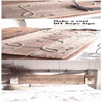 Make a cool DIY Rope Sign like this one... in minutes! So cool, cheap and fun to personalize for an