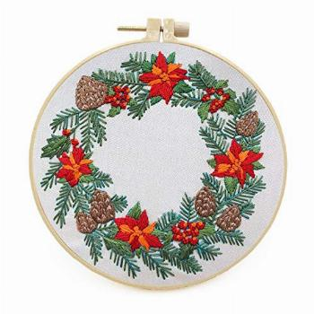 Maydear Stamped Embroidery Kit for Beginners with Pattern,