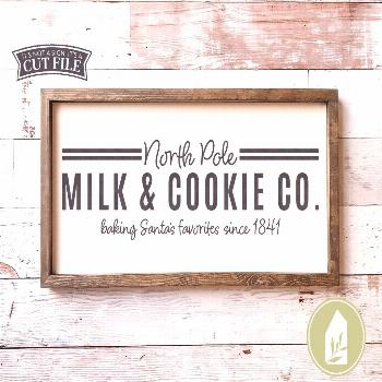 North Pole Milk and Cookie Co SVG | Christmas svg | Farmhouse Sign Design