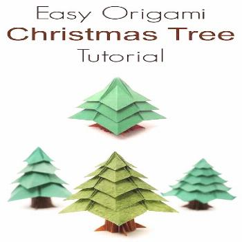 Origami Christmas Tree Tutorial,  Origami Christmas Tree Tutorial,