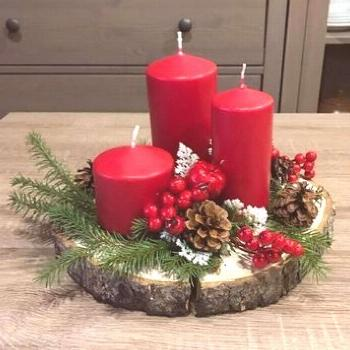 Simple And Popular Christmas Decorations, Table Decorations, Christmas Candles, DIY Christmas Cente