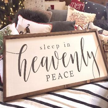 Sleep in Heavenly Peace Wood Sign 16 X 36 | Etsy