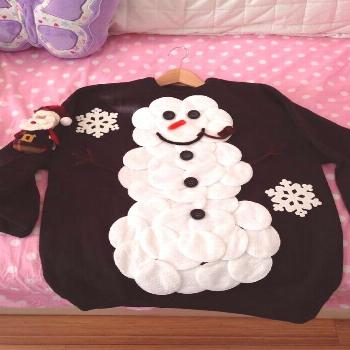 Snowman Sweater: If you are attending an ugly Christmas sweater party this year, we have got you co