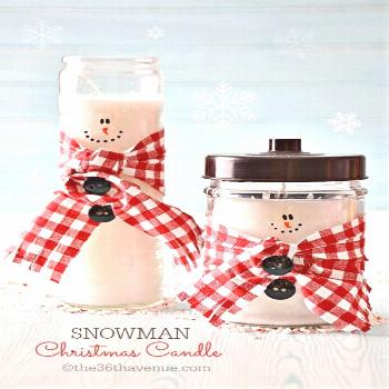 These snowman candles are so cute! Check out the DIY candle making tutorial. These Christmas candle