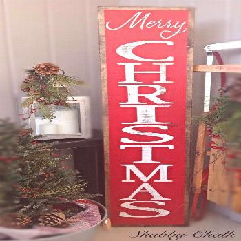 This Merry Christmas Porch Sign will be the perfect addition to your holiday porch or entryway! Thi
