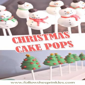 Time for holiday baking. Christmas cake pops are easy to make and totally adorable. Snowman, christ