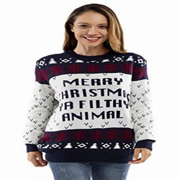 Unisex Women's Ugly Christmas Sweater Knitted Funny Fairisle