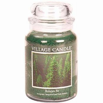 Village Candle Balsam Fir Large Glass Apothecary Jar Scented