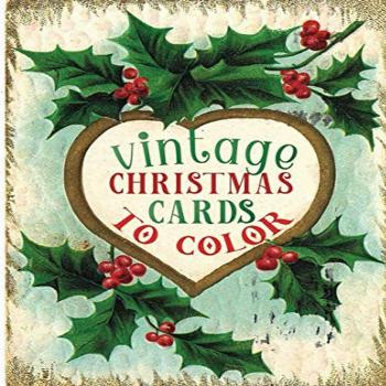 vintage christmas cards to color: A Vintage Grayscale