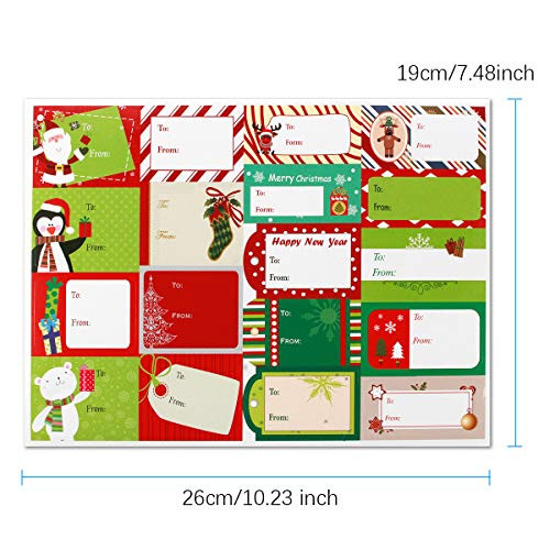 360 Pieces Christmas Sticker Labels, Jumbo Self Adhesive Tag