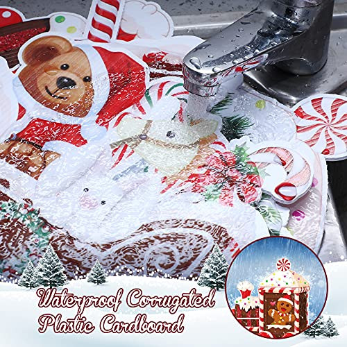 4 Pieces Christmas Train Outdoor Lawn Sign Decorations
