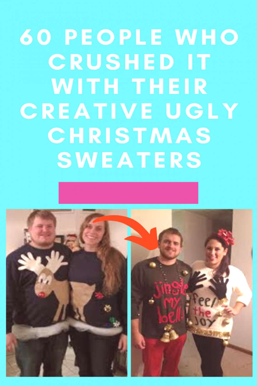 60 people who crushed it with their creative ugly Christmas sweaters For some weird reason, people