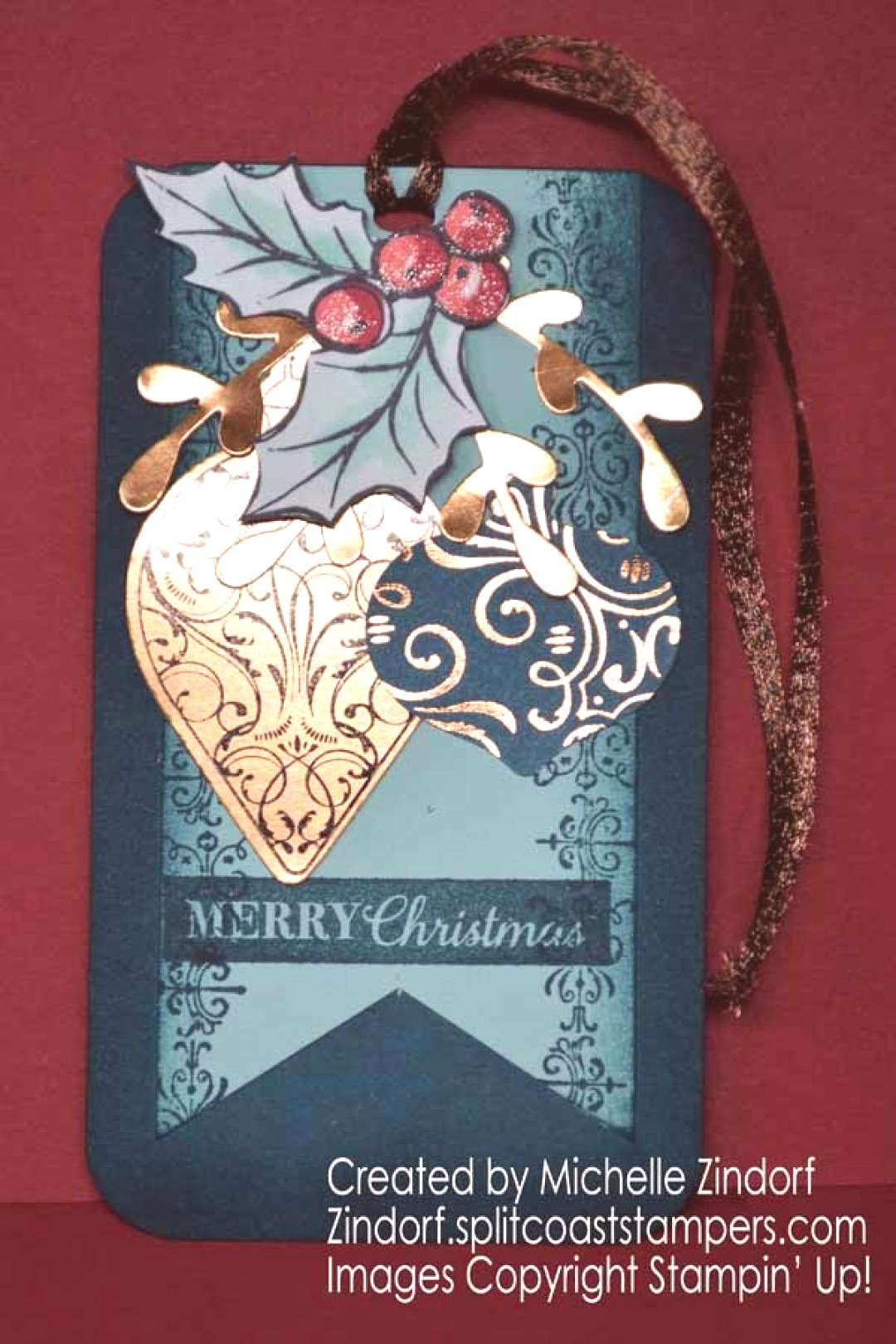 And then there were many. . . .Christmas tags that is. |