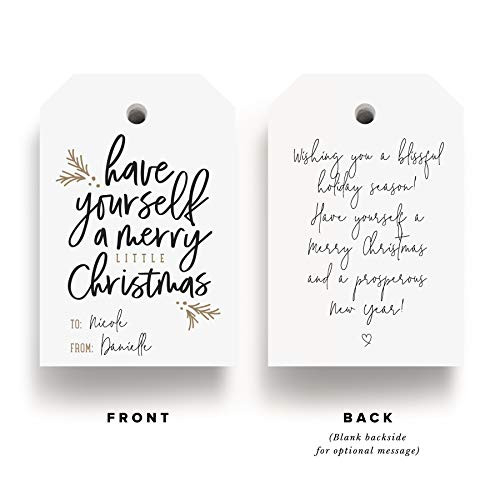 Bliss Collections Merry Little Christmas Tags, Pack of 50,