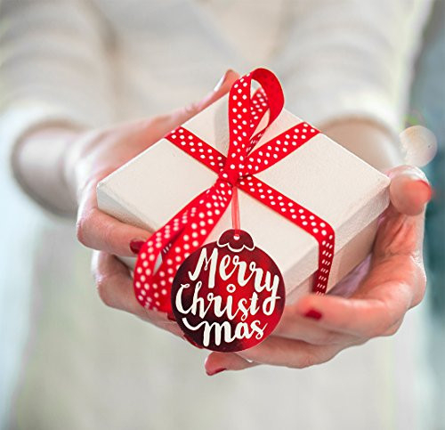 Christmas Gift Tags 60 Count with Untied String (15 Assorted