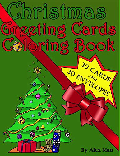 Christmas Greeting Cards Coloring Book This unique
